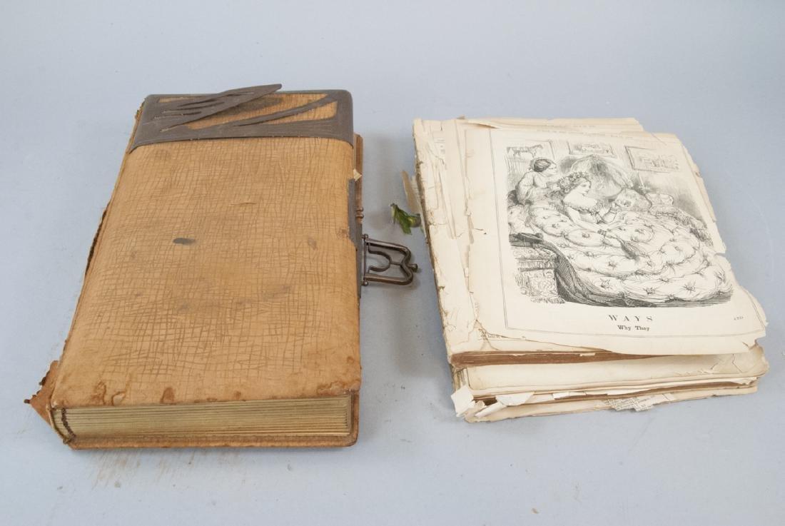 Lot of Antique Scrap Book Material Pre-Cut
