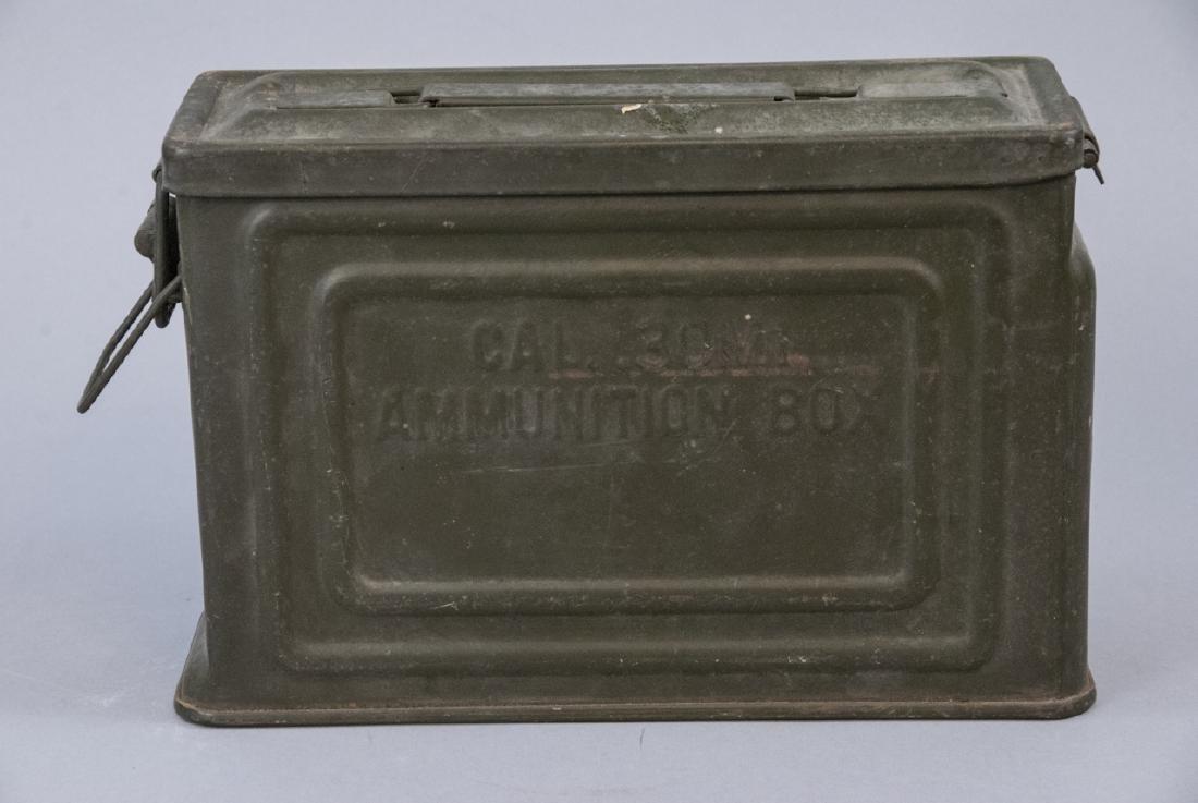 Vintage Green U.S. Military .30 Cal Ammunition Box