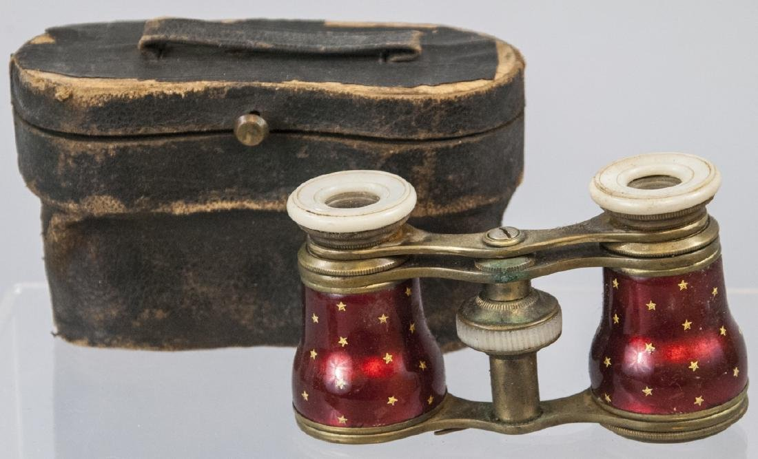 Antique Opera Glasses In Carrying Case