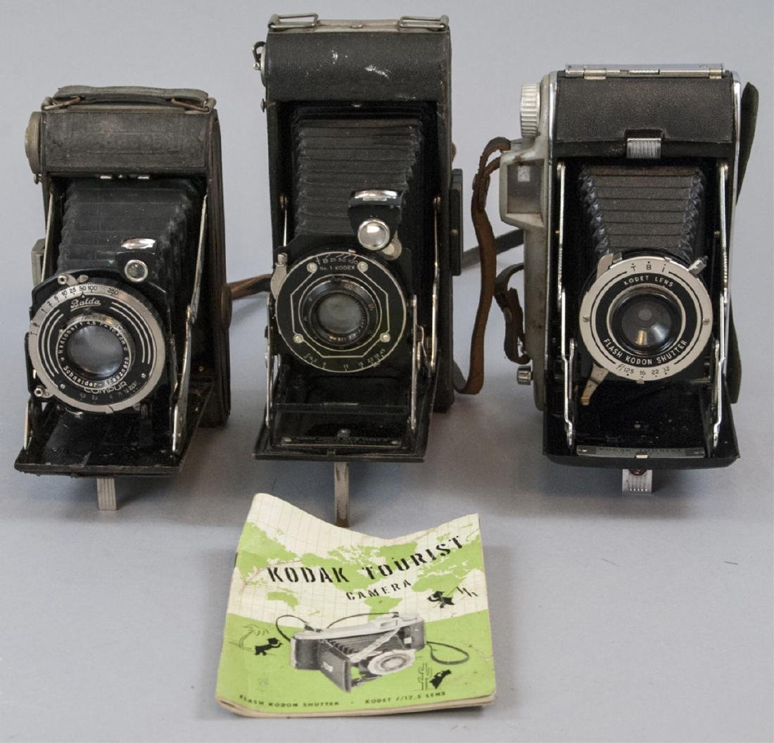 Assorted Lot Of Three  Antique Kodak Cameras