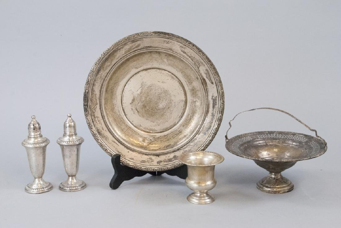 Five Pieces of Sterling Silver Serving Items