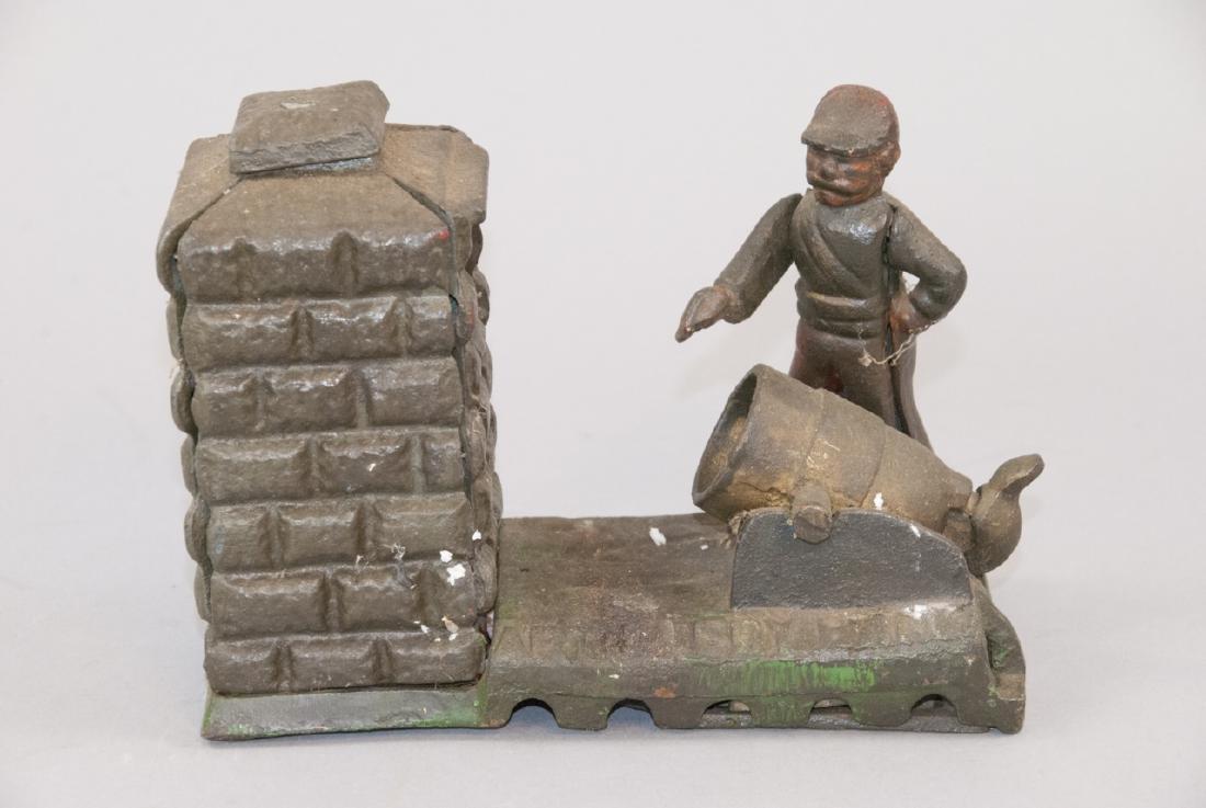 Antique Cast Iron Artillery Coin Bank
