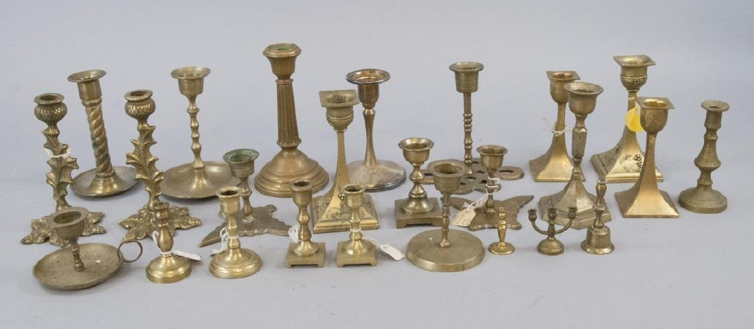 Assorted  Antique & Vintage Candlestick Holders