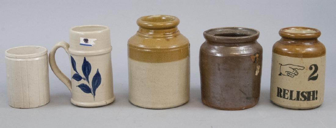 Lot Vintage Stoneware Crocks
