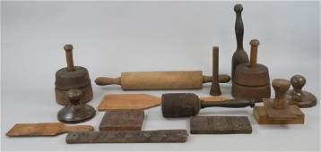 Vintage & Antique Wooden Butter Making Items