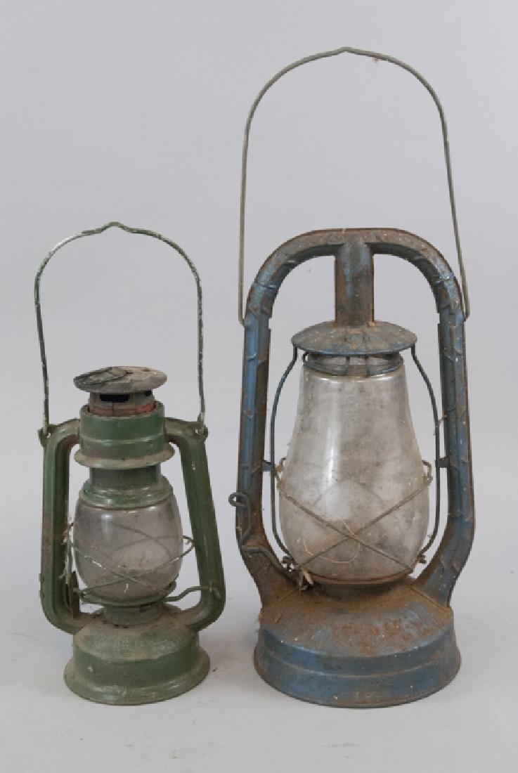 Two Antique Kerosene / Oil Lamps