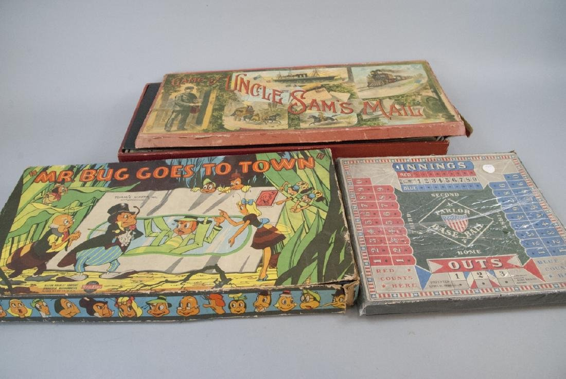 Lot Of Assorted Vintage & Antique Board Games