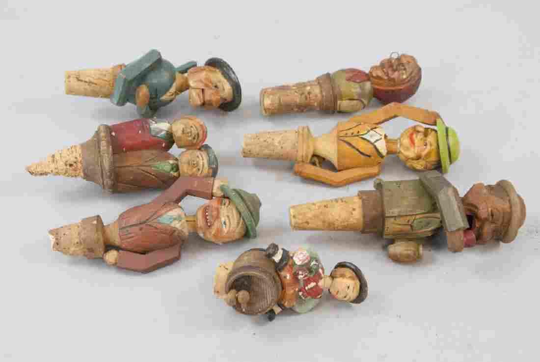 Vintage German Folk Art Carved Mechanical Corks