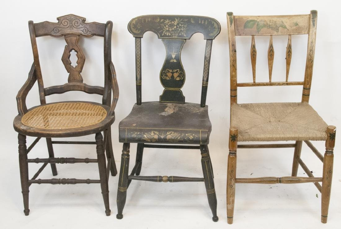 Lot of Antique Mixed Side Chairs