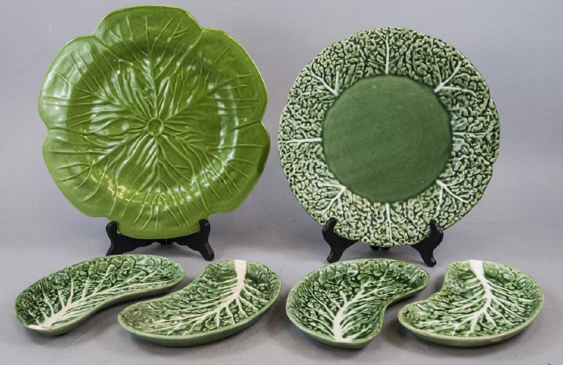 Vintage Green Majolica Plates