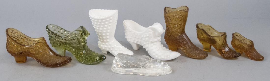 Lot Of Vintage & Antique Victorian Glass Shoes
