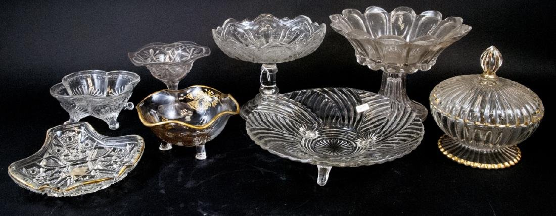 Lot Of Vintage Crystal & Cut Glass Vessels