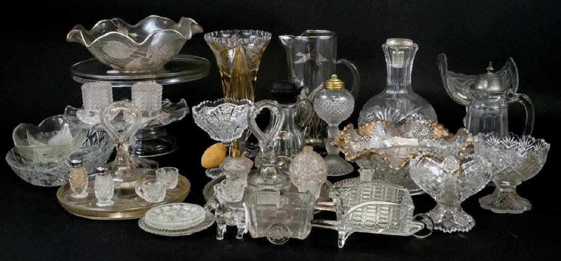 Assorted Crystal & Glass Kitchen & Home Items