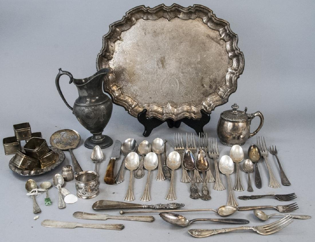 Assorted Lot Of Silver Plated Serving Items