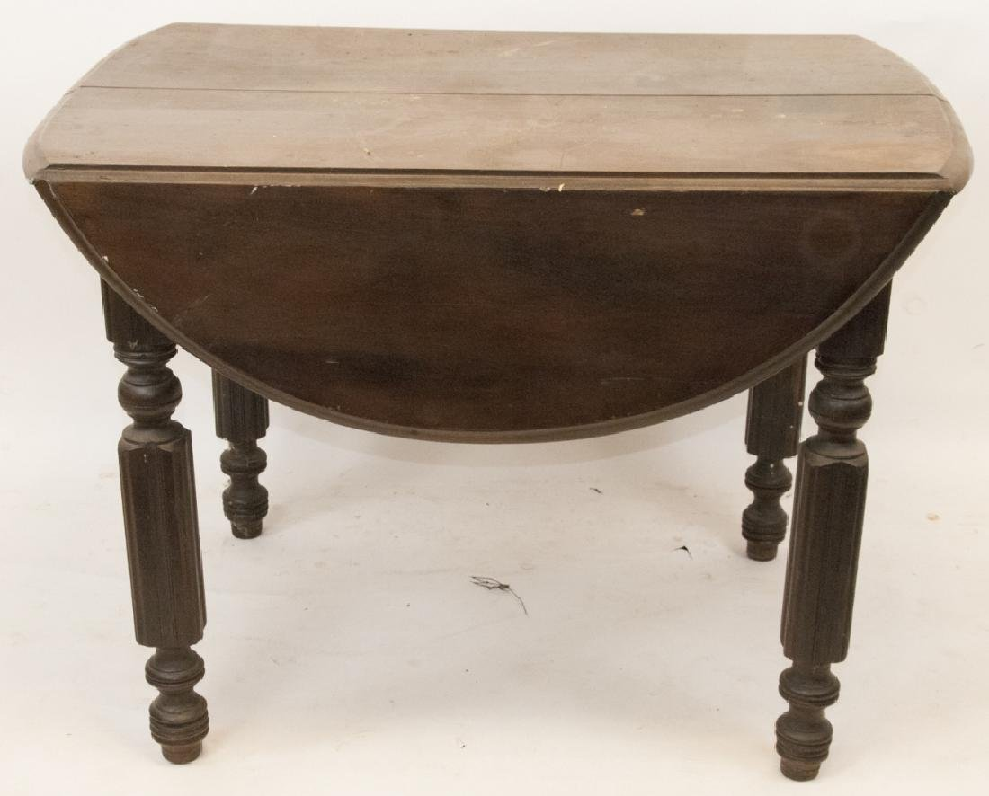 Antique Drop Leaf Mahogany Table