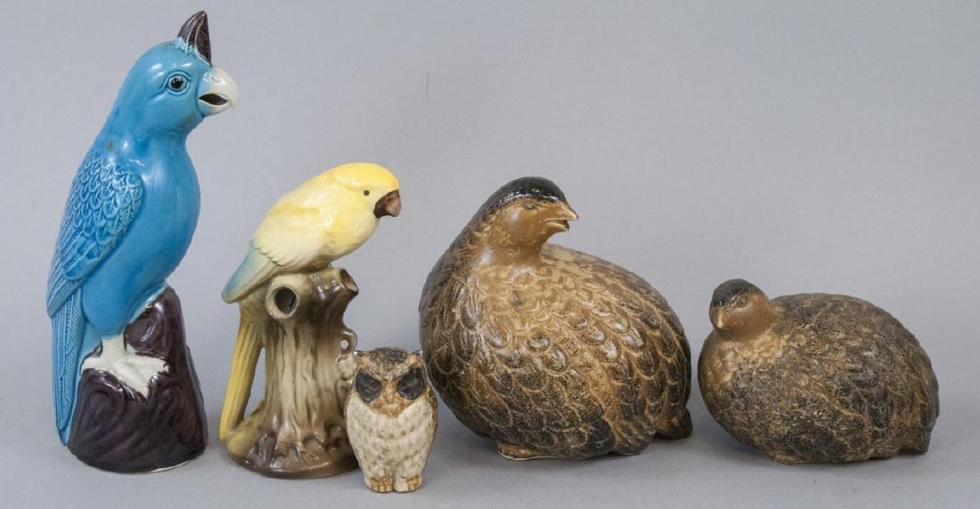 Assorted Lot Of Vintage Porcelain Bird Figurines