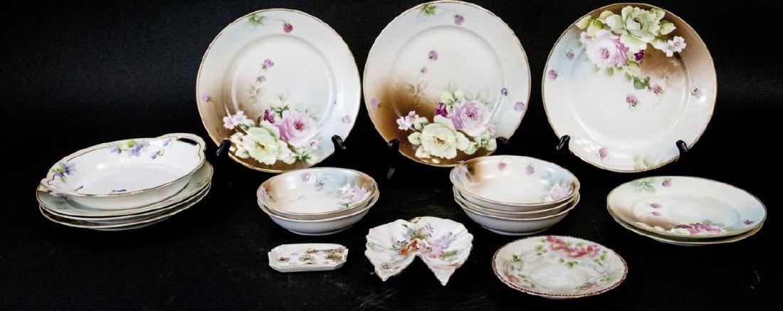 Lot Antique Nippon Porcelain Hand Painted