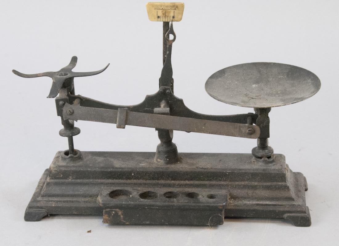 Antique Cast Iron Henry Troemner Pharmacy Scale