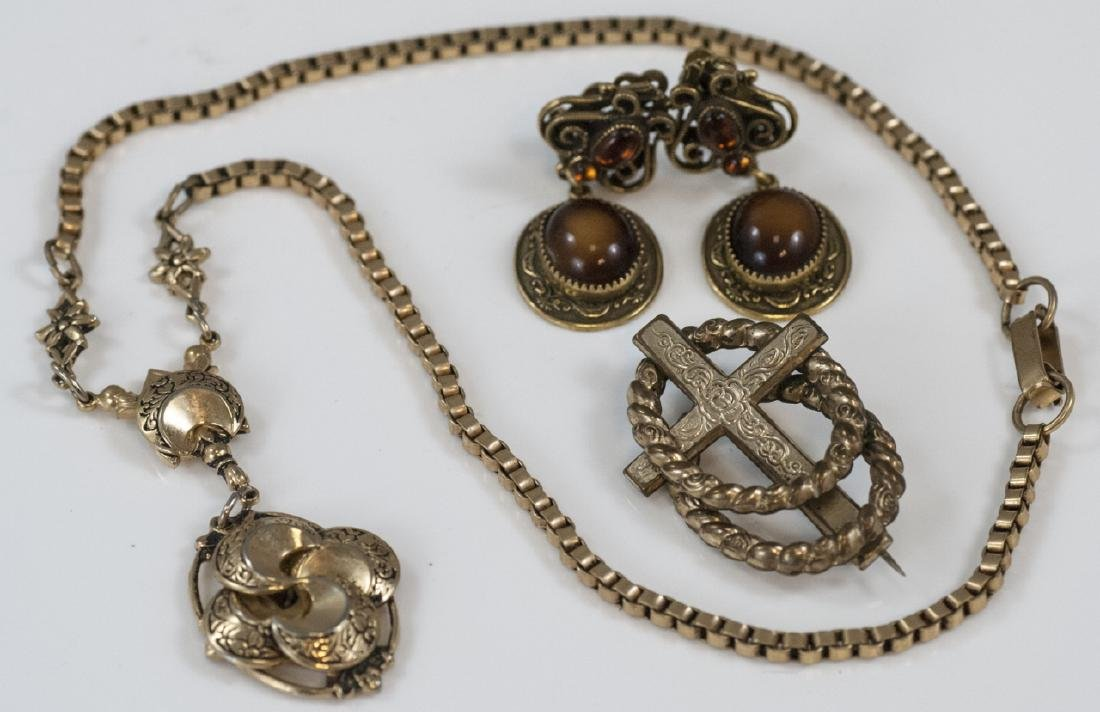 Antique Victorian Gold Filled / Plated Jewelry Set