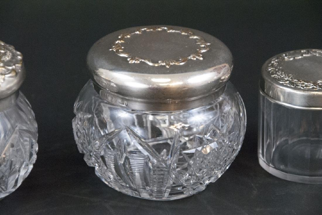 Collection of Sterling & Silver Plate Vanity Jars - 2