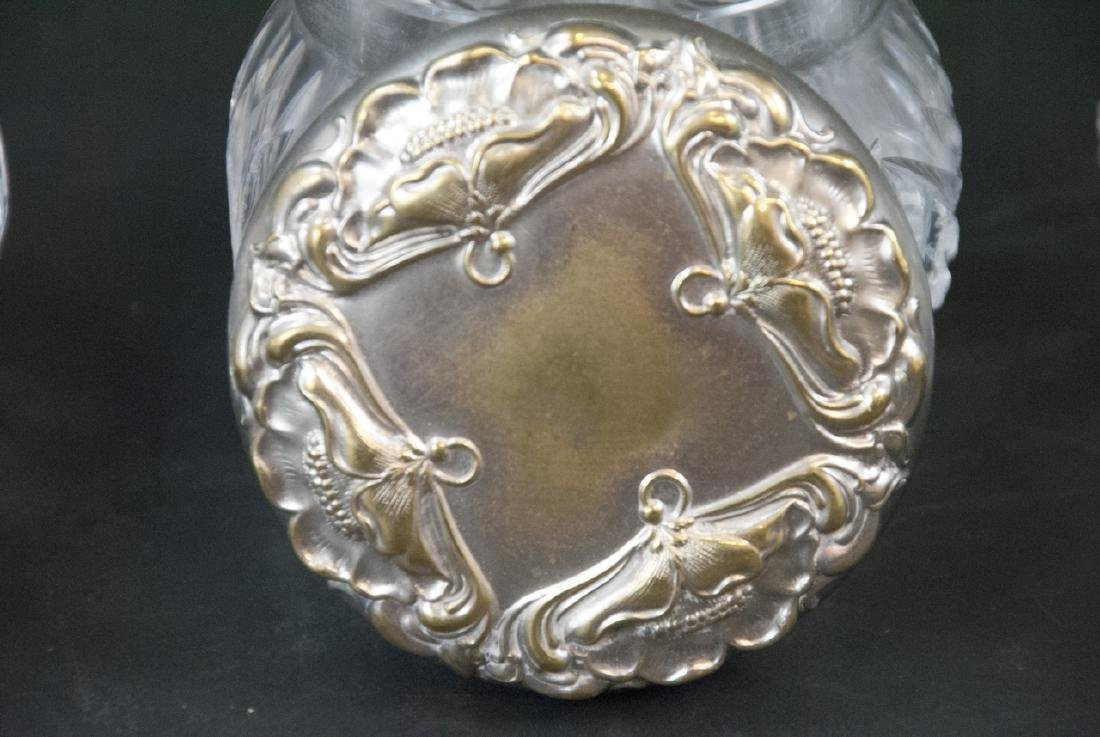 Collection of Sterling & Silver Plate Vanity Jars - 5