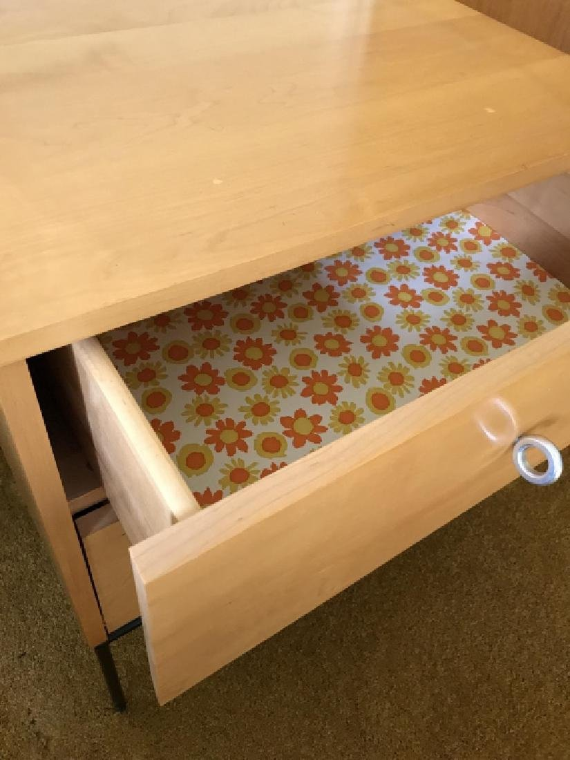 Mid Century Modern Blonde Wood End Table - 4