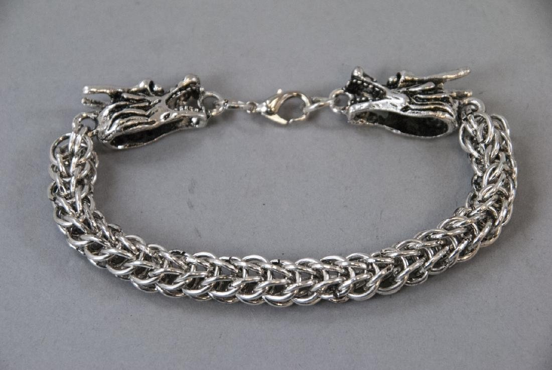 Chinese Double Headed Dragon Articulated Bracelet