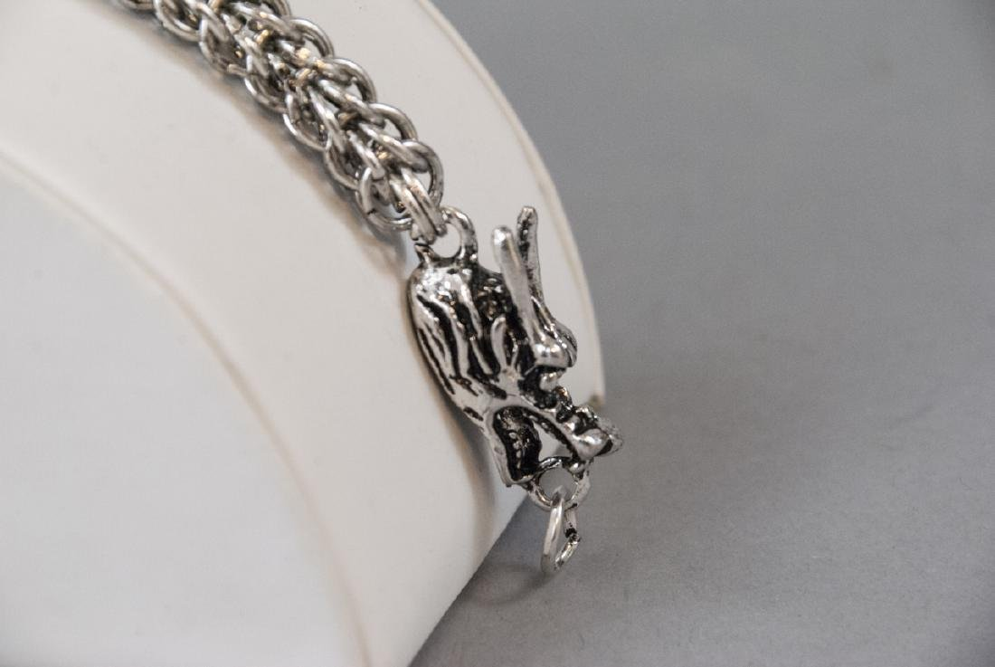 Chinese Double Headed Dragon Articulated Bracelet - 4
