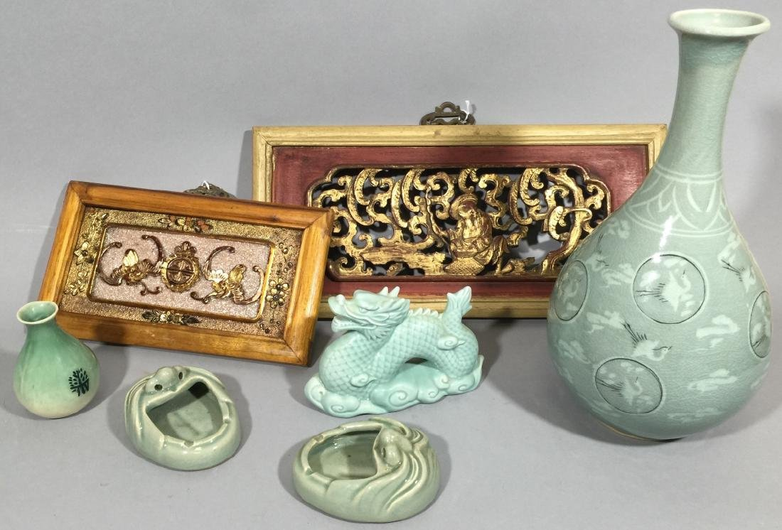 Collection of Chinese Celadon Porcelain Items