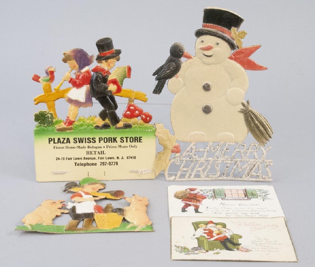 Vintage Cardboard Pressed Holiday Decor