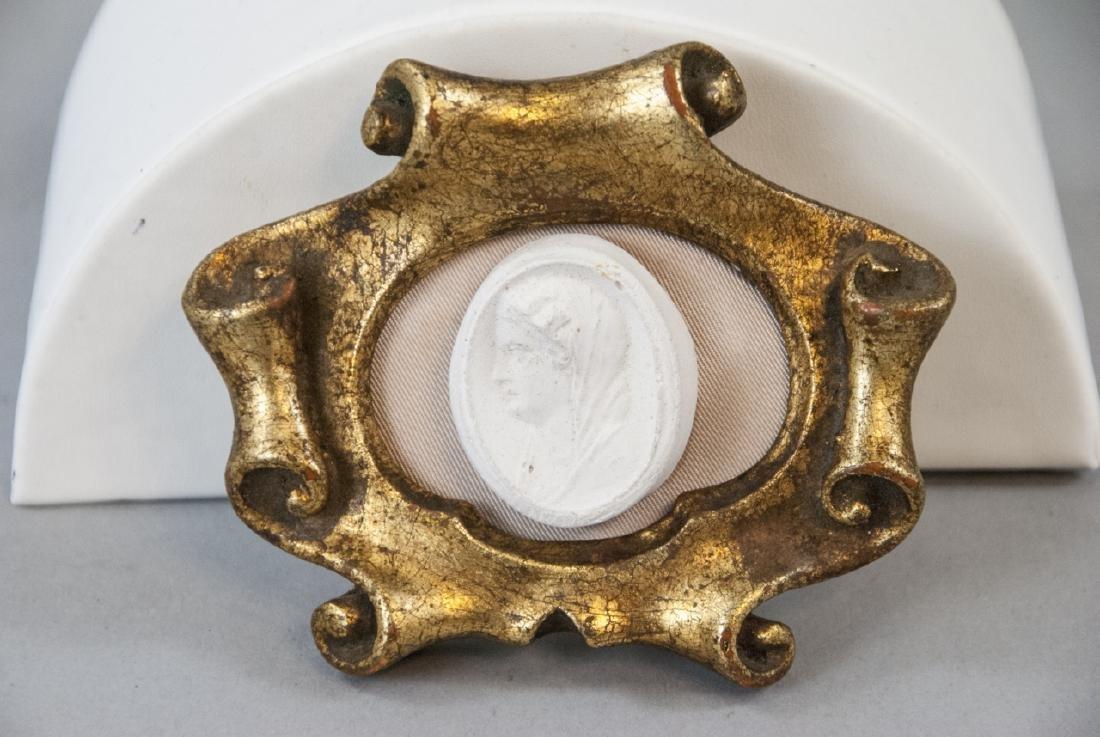 Antique Italian Frame w Grand Tour Style Medallion