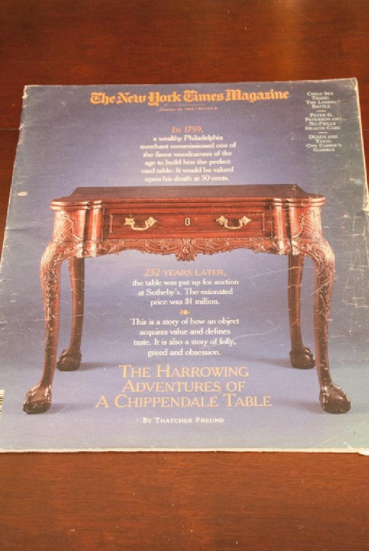 Antique Chippendale Style Console or Dining Table - 5