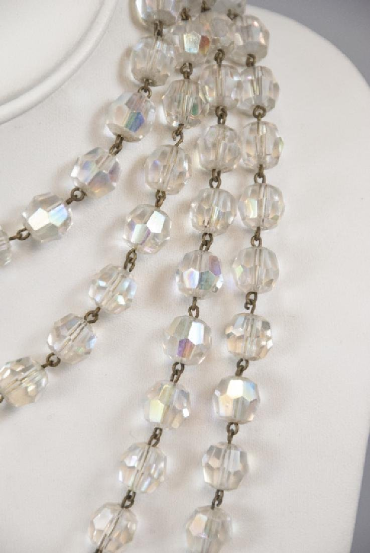 Antique 70 Inch Flapper Crystal Necklace Strand - 4