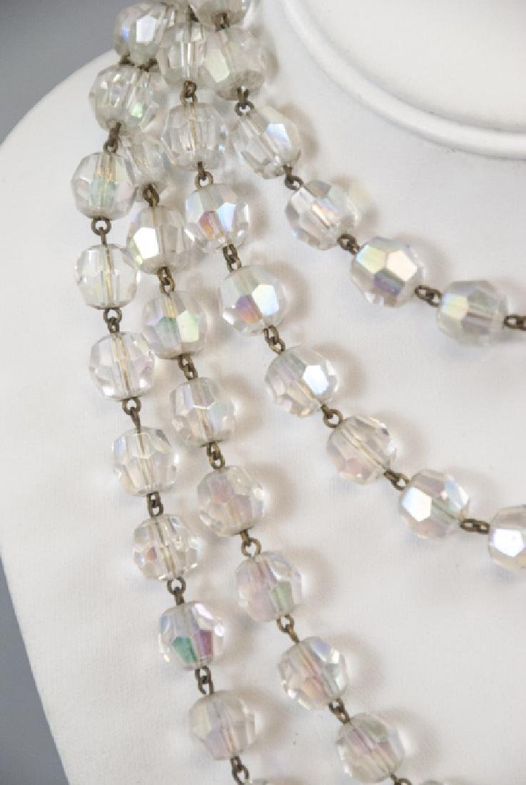 Antique 70 Inch Flapper Crystal Necklace Strand - 5