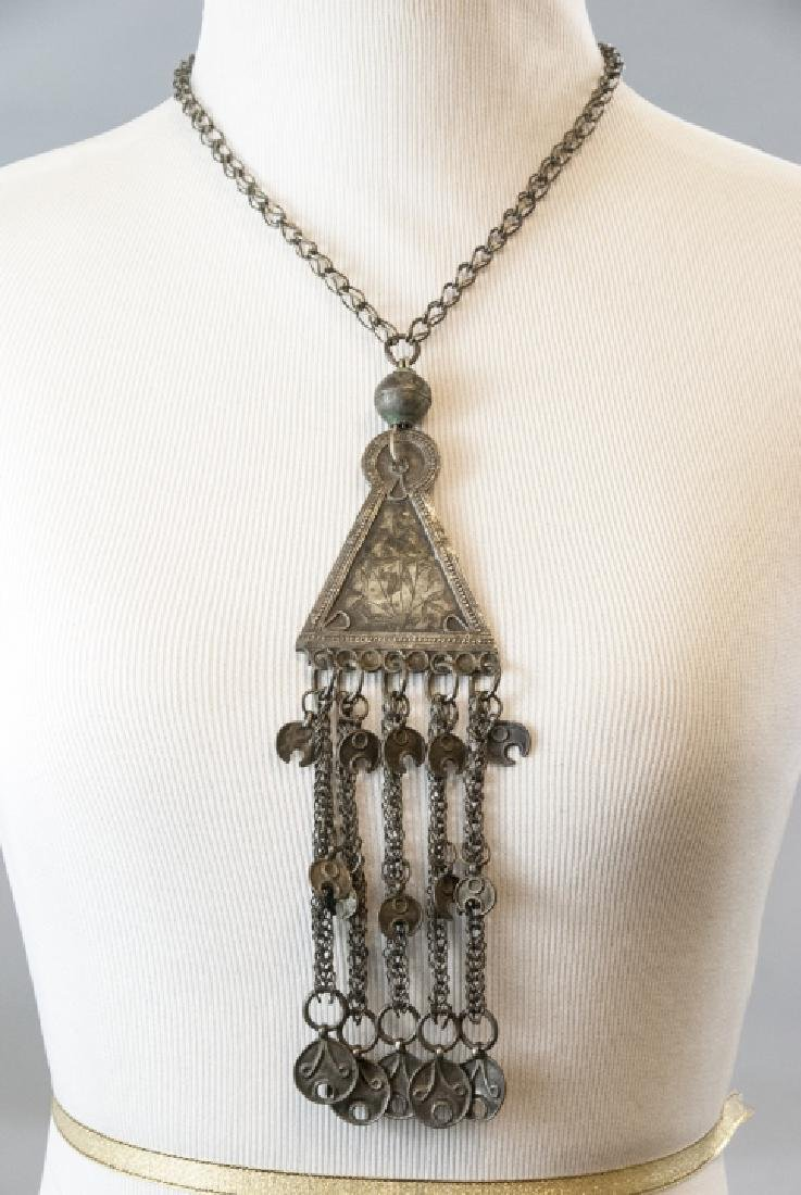 Vintage Gypsy Style Necklace w Ornate Pendant