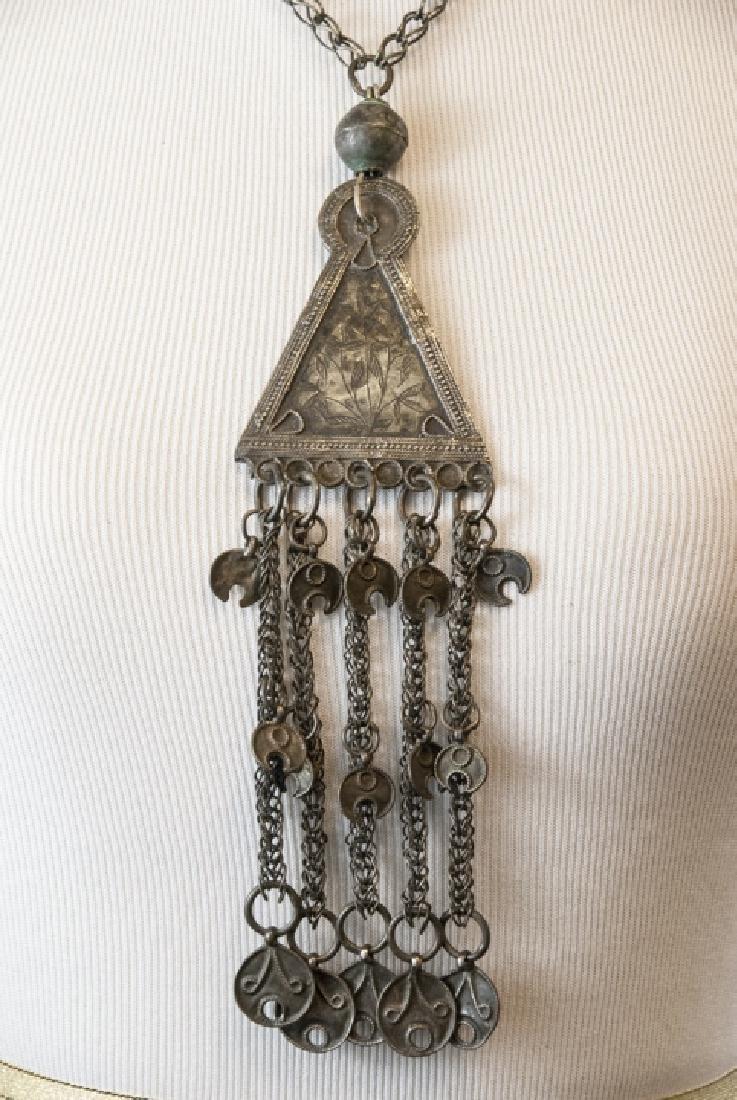 Vintage Gypsy Style Necklace w Ornate Pendant - 2