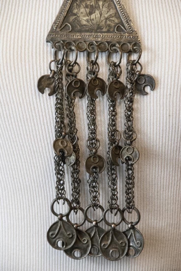 Vintage Gypsy Style Necklace w Ornate Pendant - 6