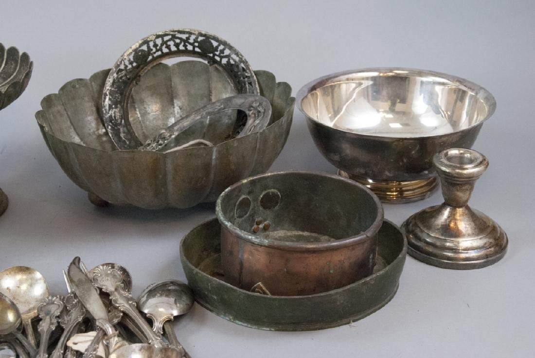 Lot Mixed Silver Plate & Mixed Metal Antique Items - 2