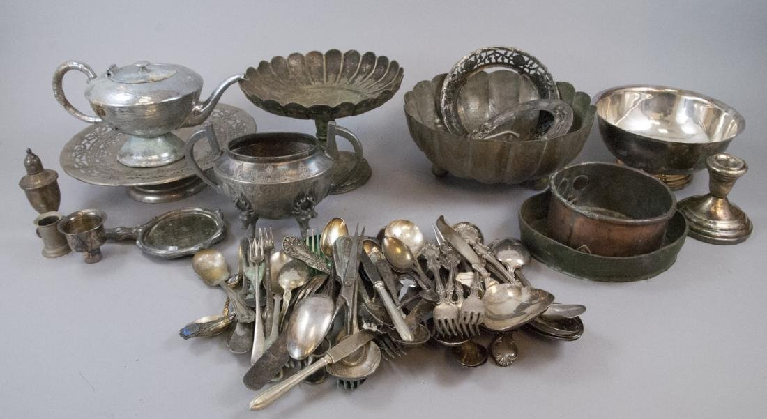 Lot Mixed Silver Plate & Mixed Metal Antique Items - 3