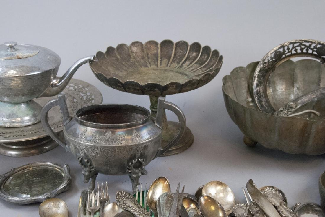 Lot Mixed Silver Plate & Mixed Metal Antique Items - 5