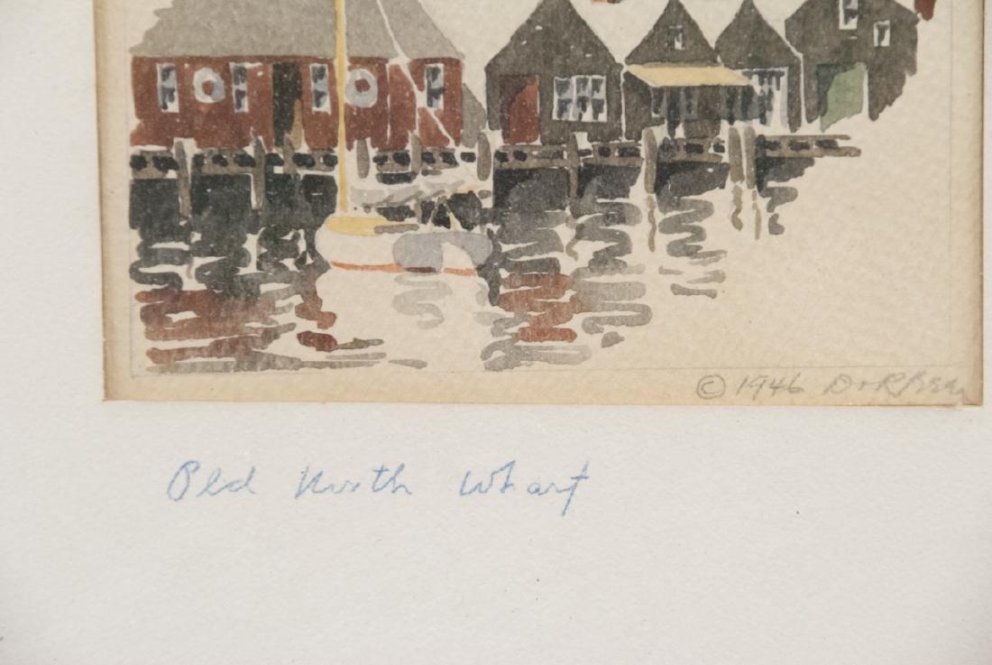 Pair Rockport MA School Original Signed Watercolor - 3