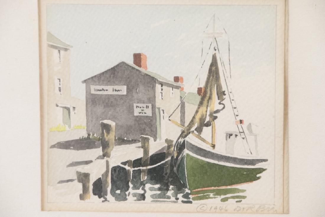 Pair Rockport MA School Original Signed Watercolor - 4