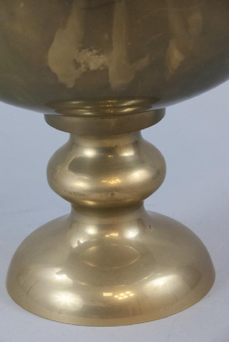 Neo Classical Gilt Brass Swan Handle Centerpiece - 5