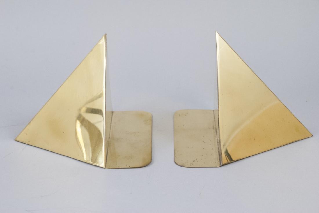 Vintage Gilt Brass Book Ends & Armillary Sphere - 3
