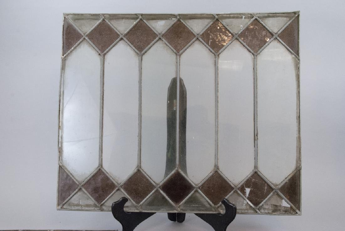 Four Antique Stained Glass Windows / Panels - 2