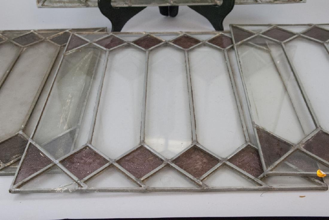 Four Antique Stained Glass Windows / Panels - 6