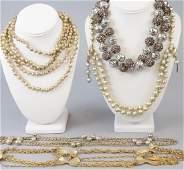 Costume Gold, Silver, Bronze Tone Necklaces