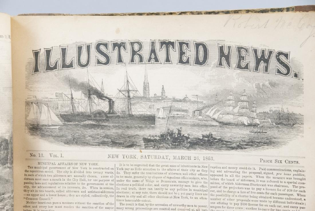 The Illustrated News Jan to July 1853 19th C Book - 4
