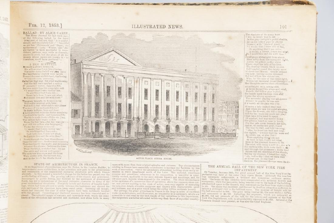The Illustrated News Jan to July 1853 19th C Book - 7