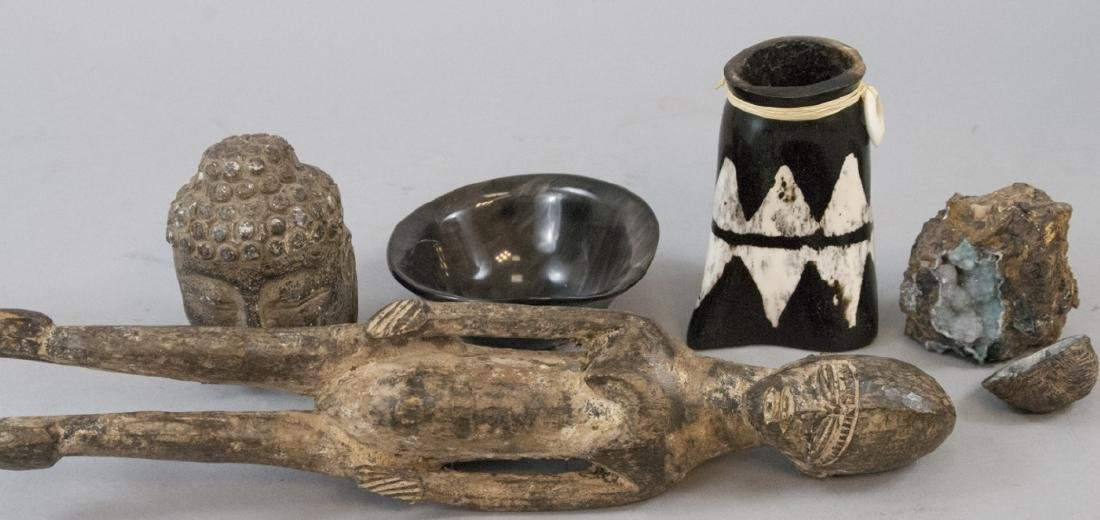 Asian, African, Horn & Crystal Table Articles
